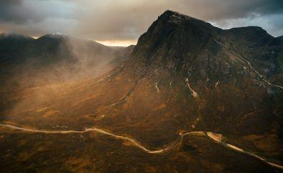Sunrise in the scottish highlands wallpaper
