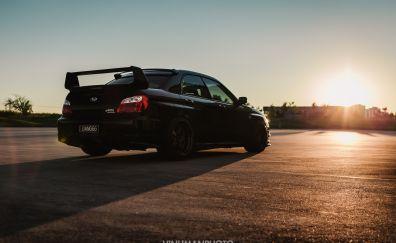 Subaru impreza car, rear view