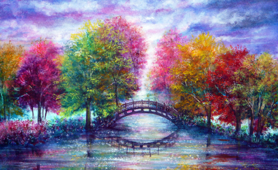 Nature colorful painting