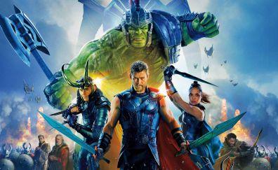 Thor: ragnarok, movie, poster, cast, 4k, 2017