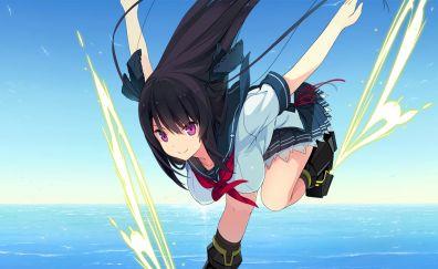 Misaki tobisawa, water sliding, anime girl