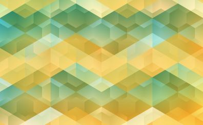 Hexagons, abstract, material design