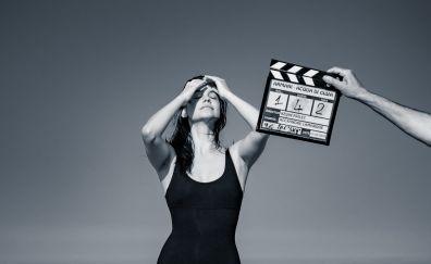 Barbara palvin, monochrome, hungarian model