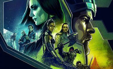 Thor: ragnarok, movie, art