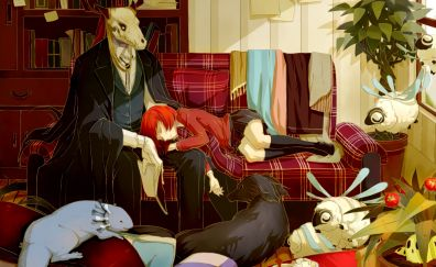 Chise Hatori and Elias Ainsworth, anime, Mahou Tsukai no Yome