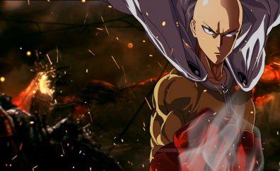 Saitama, bald, anime boy