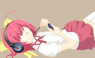 Kanon Nakagawa, The World God Only Knows, Kami nomi zo Shiru Sekai, lying down, anime girl, 4k