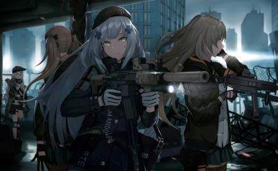 Girls frontline, anime girls with gun