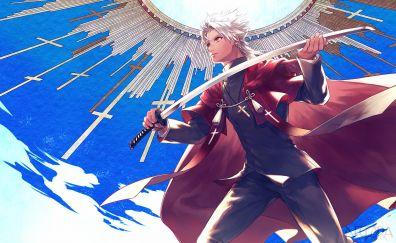 Shirou Kotomine, Fate/Apocrypha, anime boy, sword