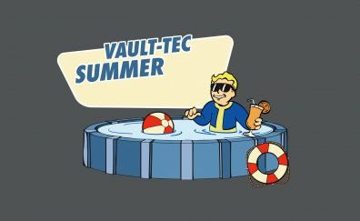 Fallout, Vault Boy, bath, sunglasses