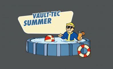 Fallout, Vault Boy, bath, sunglasses