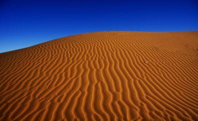 Desert, sand, blue sky, dunes, 4k