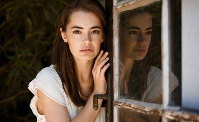 Lidia savoderova, brunette, reflections, model