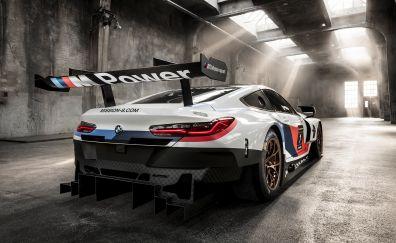 BMW M8 GTE, race car, rear view