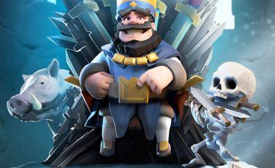 Clash Royale, blue king, mobile game