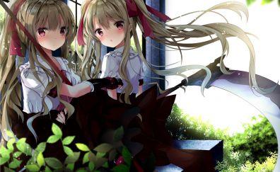 Cute, anime girls, anime, friends, original