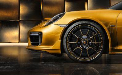 Porsche, Exclusive series, Porsche 911 Turbo, car, wheel