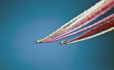 Airshow, aircraft, airplane, sky