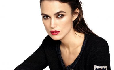 Red lips, Keira Knightley