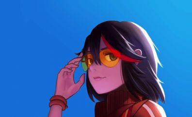 Kill la Kill, Sunglasses, anime girl. Ryūko Matoi