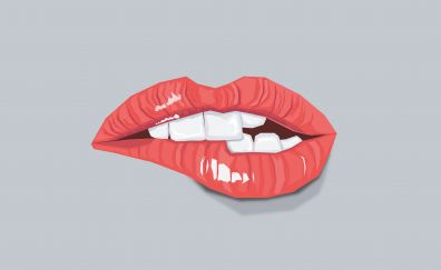Sexy lips, teeth, minimal