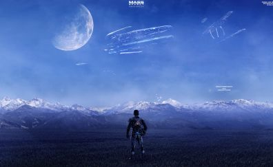 Mass Effect: Andromeda, space, planet, landscape