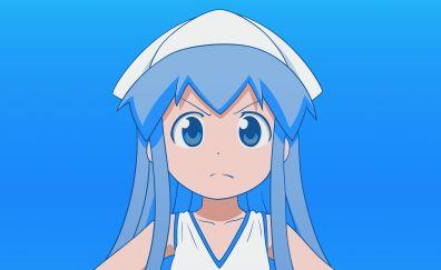 Cute, curious, anime girl, Ika Musume