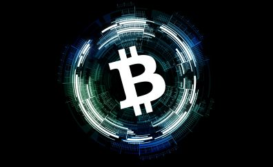 Bitcoin, abstract, cryptocurrency, money, 5k