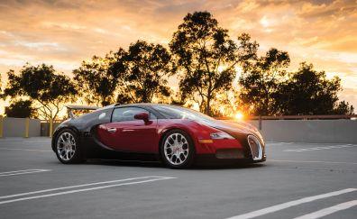 Bugatti Veyron, luxury car, side view