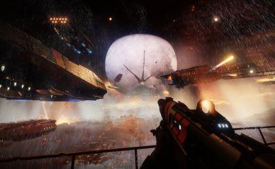 Space, battle, Destiny 2, video game, 4k