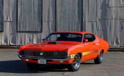 Ford Torino, classic car, front, 5k