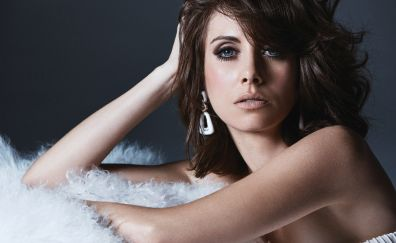 Alison brie, actress, beautiful, brunette