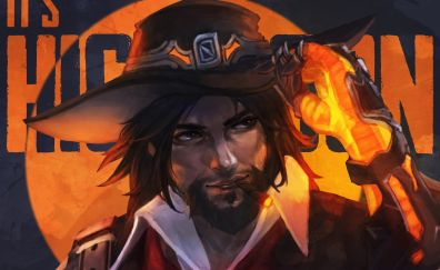 Mccree, face, online game, overwatch