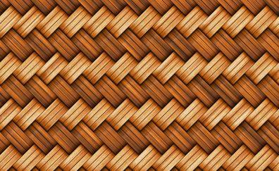 Basket, fiber, texture, pattern, 4k