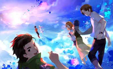 Anohana, anime girls and boys