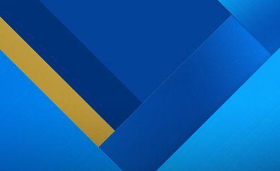 Geometric, material design, stock blue