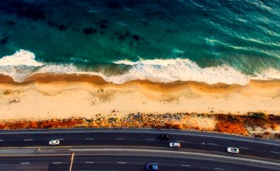 Laguna Beach, California, road, aerial view