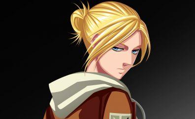 Blonde anime, Annie Leonhart, Attack on titans, anime girl