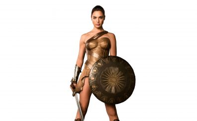 Wonder Woman with sword and shield, Gal Gadot, 5k