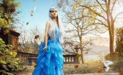 Queen, angel, woman, dove, cgi