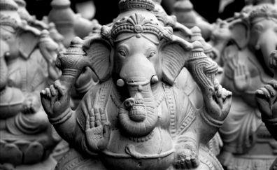 Clay, structure, model, Ganesha, idols
