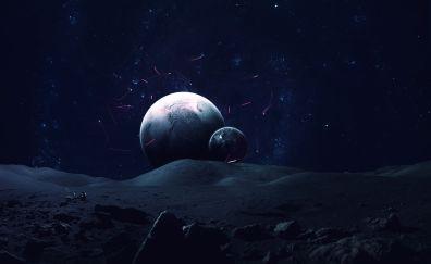 Planet, space, landscape