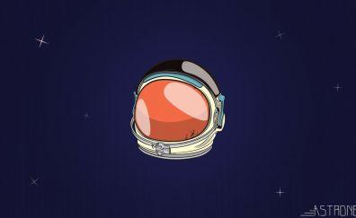 Astronaut's helmet, minimal