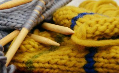 Knit, wool, knitting