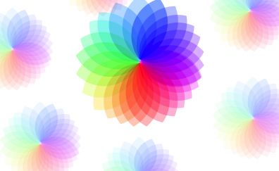 Circles, pattern, abstract, colorful