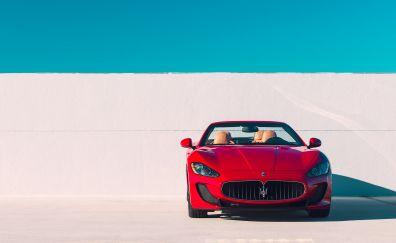 Red Maserati GranTurismo, luxury, sports car