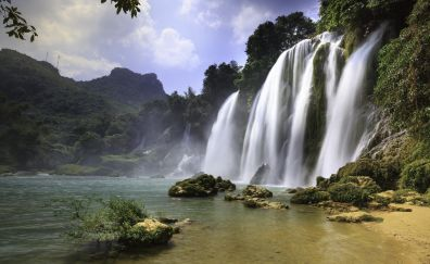 Nature, waterfall, river, 4k