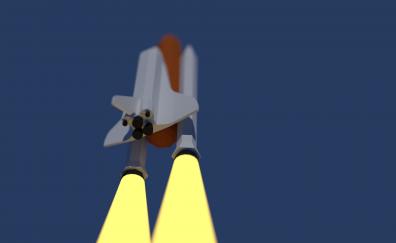Space shuttle minimal