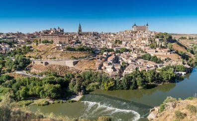 Toledo spain river panorama