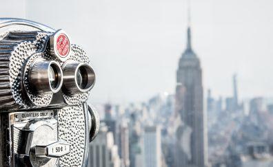 Usa new york manhattan rockefeller center binoculars